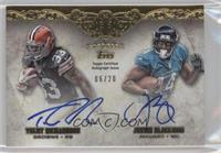 Trent Richardson, Justin Blackmon /20