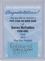 Darren McFadden /30 [REDEMPTION Being Redeemed]