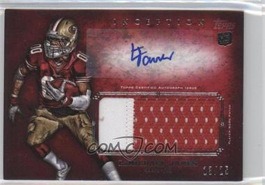2012 Topps Inception - Rookie Autographed Jumbo Patch - Red [Autographed] #AJP-LJ - LaMichael James /25