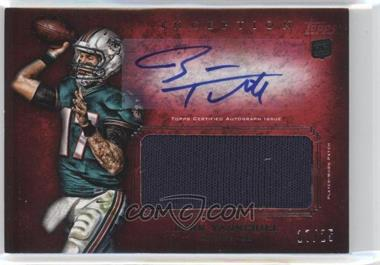 2012 Topps Inception - Rookie Autographed Jumbo Patch - Red [Autographed] #AJP-RT - Ryan Tannehill /25