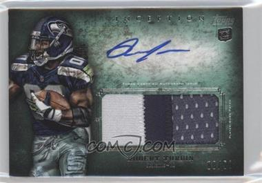 2012 Topps Inception Rookie Autographed Jumbo Patch Green Patch [Autographed] #AJP-RTU - Robert Turbin /50