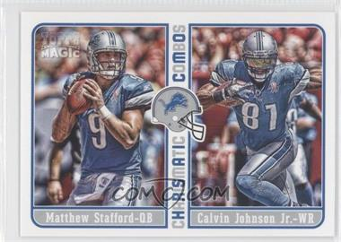2012 Topps Magic Charismatic Combos #CC-SJ - Matthew Stafford, Calvin Johnson