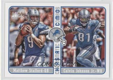 2012 Topps Magic Charismatic Combos #CC-SJ - Matthew Stafford, Calvin Johnson