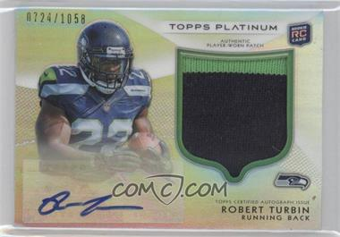 2012 Topps Platinum - Autographed Rookie Refractor Patch #144 - Robert Turbin /1058