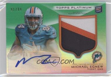 2012 Topps Platinum Autographed Rookie Refractor Patch Green #155 - Michael Egnew /99