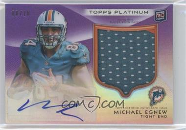 2012 Topps Platinum Autographed Rookie Refractor Patch Purple #155 - Michael Egnew /10