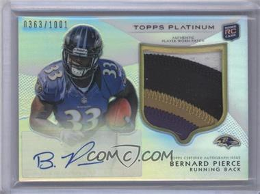 2012 Topps Platinum Autographed Rookie Refractor Patch #113 - Bernard Pierce /1001