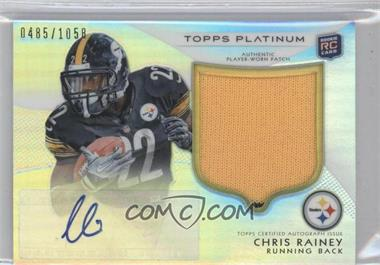 2012 Topps Platinum Autographed Rookie Refractor Patch #114 - Chris Rainey /1058
