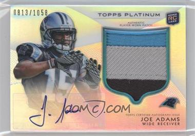 2012 Topps Platinum Autographed Rookie Refractor Patch #126 - Joe Adams /1058