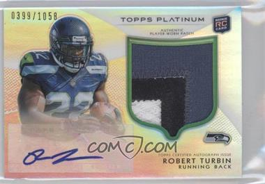 2012 Topps Platinum Autographed Rookie Refractor Patch #144 - Robert Turbin /1058
