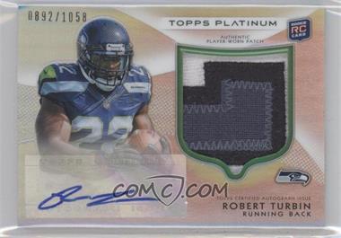 2012 Topps Platinum Autographed Rookie Refractor Patch #144 - Robert Turbin /1058