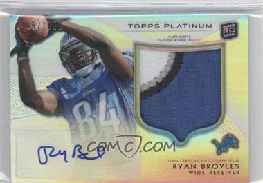 2012 Topps Platinum Autographed Rookie Refractor Patch #146 - Ryan Broyles /1058