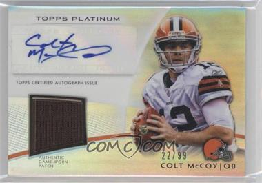 2012 Topps Platinum Autographed Veteran Refractor Patch #AVP-CM - Colt McCoy /99