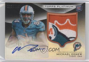2012 Topps Platinum Rookie Patch Autographs Black Refractors #155 - Michael Egnew /125