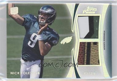 2012 Topps Prime - Dual Relics - Silver Rainbow #DR-NF - Nick Foles /10