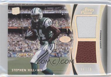 2012 Topps Prime - Dual Relics - Silver Rainbow #DR-SH - Stephen Hill /10