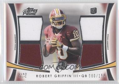 2012 Topps Prime - Quad Relics #QR-RG - Robert Griffin III /146
