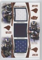 Brian Quick, Chris Givens, Isaiah Pead /25