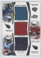 Justin Blackmon, Michael Floyd, Kendall Wright /559