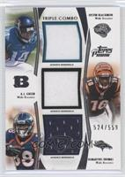 Justin Blackmon, A.J. Green, Demaryius Thomas /559