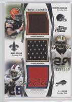 Trent Richardson, Mark Ingram, C.J. Spiller /559