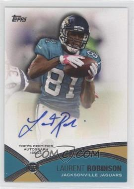 2012 Topps Prolific Playmakers Autographs [Autographed] #PPA-LR - Laurent Robinson