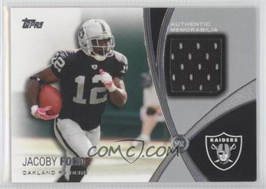 2012 Topps Prolific Playmakers Relics #PPR-JFO - Jacoby Ford
