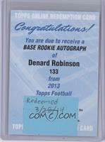Denard Robinson [REDEMPTION Being Redeemed]