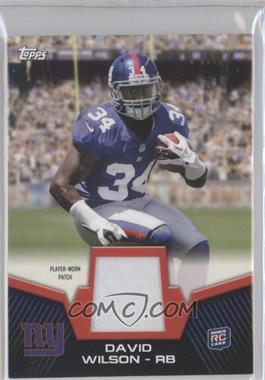 2012 Topps Rookie Patch #RP-DW - David Wilson