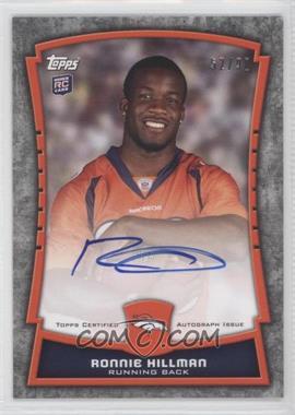2012 Topps Rookie Premiere Autographs #RPA-RH - Ronnie Hillman /90