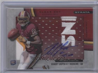 2012 Topps Strata - Clear Cut Autograph Rookie Relics - Red Patch [Autographed] #CCAR-RG - Robert Griffin III /30