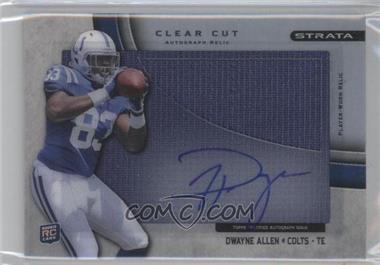 2012 Topps Strata Clear Cut Autograph Rookie Relics [Autographed] #CCAR-DA - Dwayne Allen