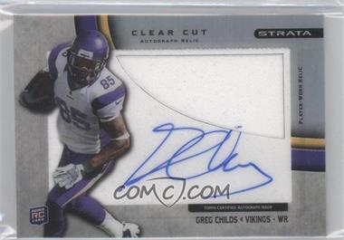 2012 Topps Strata Clear Cut Autograph Rookie Relics [Autographed] #CCAR-GC - Greg Childs