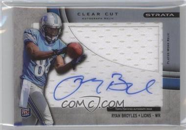 2012 Topps Strata Clear Cut Autograph Rookie Relics [Autographed] #CCAR-RB - Ryan Broyles