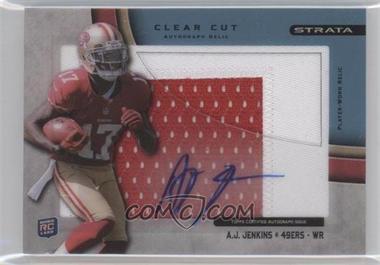 2012 Topps Strata Clear Cut Autograph Rookie Relics Blue Patch [Autographed] #CCAR-AJ - A.J. Jenkins /75