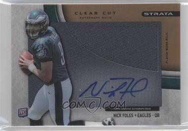 2012 Topps Strata Clear Cut Autograph Rookie Relics Gold [Autographed] #CCAR-NF - Nick Foles /99