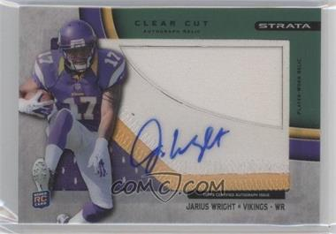 2012 Topps Strata Clear Cut Autograph Rookie Relics Green Patch [Autographed] #CCAR-JW - Jarius Wright /55