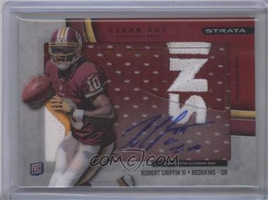 2012 Topps Strata Clear Cut Autograph Rookie Relics Red Patch [Autographed] #CCAR-RG - Robert Griffin III /30