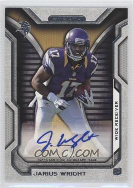 2012 Topps Strata Rookie Autographs [Autographed] #RA-JW - Jarius Wright