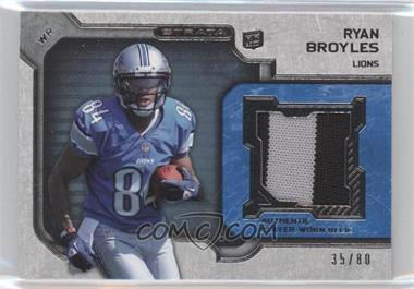 2012 Topps Strata Rookie Relics Blue Patch #RR-RB - Ryan Broyles /80