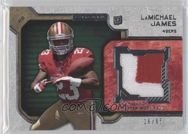 2012 Topps Strata Rookie Relics Green #RR-LJ - LaMichael James /65