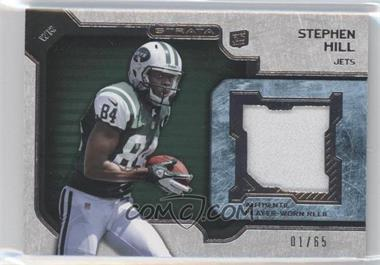 2012 Topps Strata Rookie Relics Green #RR-SH - Stephen Hill /65
