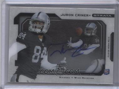 2012 Topps Strata Signature Relics [Autographed] #SSR-JC - Juron Criner /40