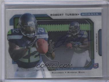 2012 Topps Strata Signature Relics Patch [Autographed] #SSR-RTU - Robert Turbin /15
