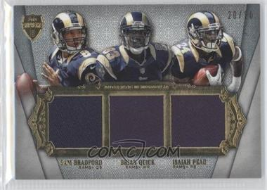 2012 Topps Supreme Six Piece Relics Dual Sided #SSPR-9 - Isaiah Pead, Andrew Luck, T.Y. Hilton, Coby Fleener /20