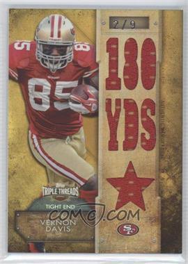 2012 Topps Triple Threads - Relics - Gold #TTR-108 - Vernon Davis /9