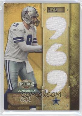 2012 Topps Triple Threads - Relics - Gold #TTR-123 - Tony Romo /9