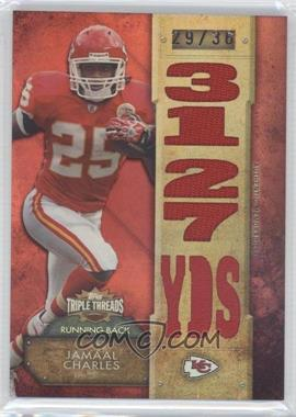 2012 Topps Triple Threads - Relics #TTR-63 - Jamaal Charles /36