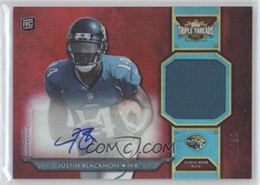 2012 Topps Triple Threads - Rookie Autograph Relics #TTRAR-5 - Justin Blackmon /99