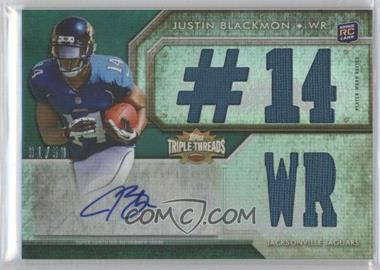 2012 Topps Triple Threads Emerald #113 - Justin Blackmon /50